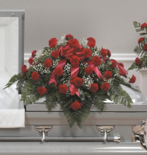 Grandest Love Carnation Casket Spray