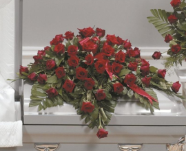 Grandest Love Rose Casket Spray