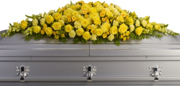 Golden Garden Casket Spray